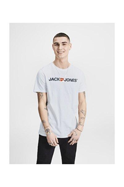 Jack & Jones Erkek Beyaz Tişört
