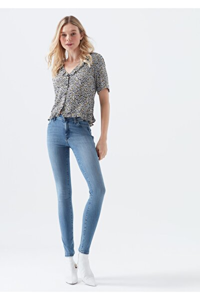 Kadın Alissa Mavi Gold Jean