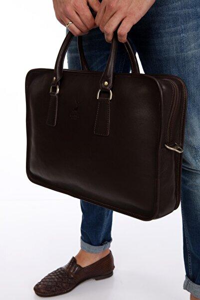 Blacksea Leather Erkek Kahverengi Hakiki Deri Evrak & Laptop Çantası