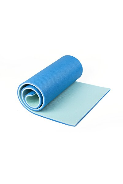 READYTOBEAT Turkuaz Mavi Çift Renkli Pilates Minderi / Yoga Matı 180 cm x 60 cm x 1.6 m