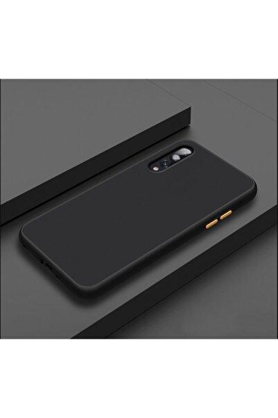 dijimedia Galaxy A30s A50 Siyah Yüksek Kenarlı El İzi Yapmayan Mat Kalite Kılıf