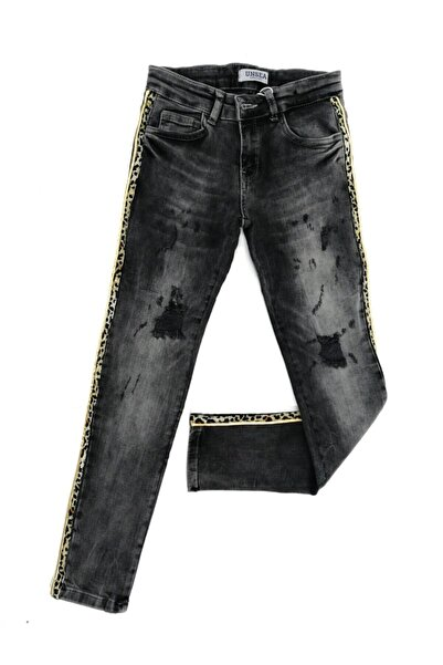 nk kids Kız Çocuk Lepoar Detay Kot Pantalon
