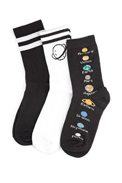 Çok Renkli 3'lü Örme Çorap TWOSS20CO0019