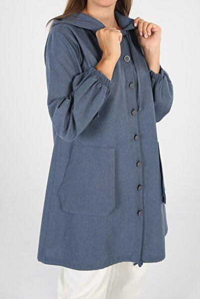 ALLDAY Kapüşonlu Cepli Gömlek Tunik