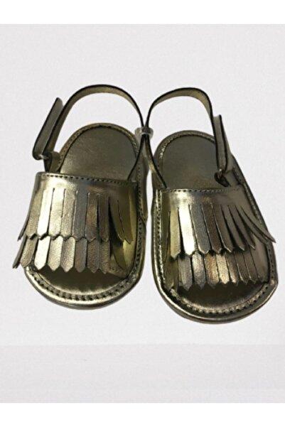 PixyLove Pixy Love Suni Deri Gold Bebek Ayakkabısı