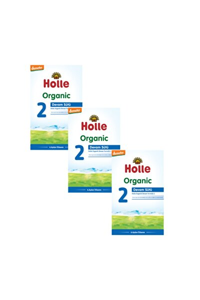 Holle Organik Devam Sütü 2 600 gr - 3'lü Paket