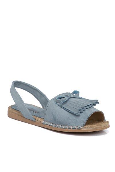 Tergan Kadın Mavi Vegan Sandalet 210111d65