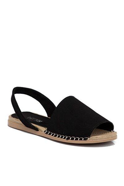 Tergan Kadın Siyah Vegan Sandalet 210112d62