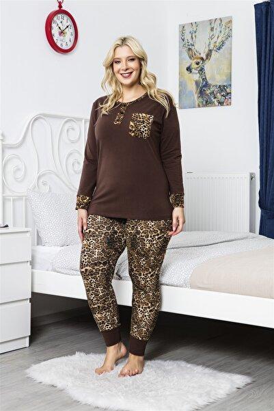 MyBen Kadın Kahverengi Pijama Takımı