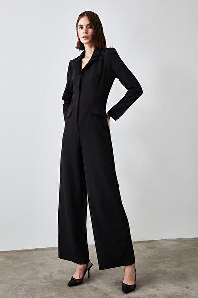 TRENDYOLMİLLA Siyah Ceket Yaka  Tulum TWOAW21TU0089