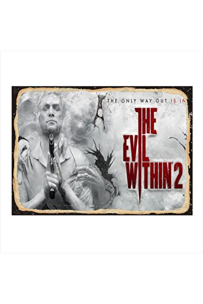 Tablomega Ahşap Tablo The Evil Within 2 25cm X 35cm