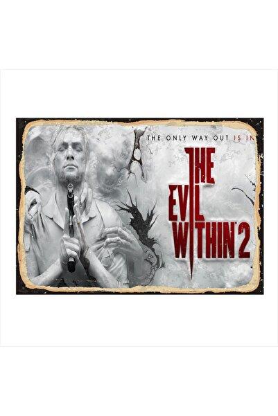 Tablomega Ahşap Tablo The Evil Within 2 35cm X 50cm