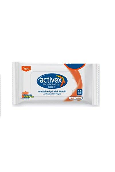 Activex Antibakteriyel Islak Mendil Aktif Cep Boy 15 Yaprak
