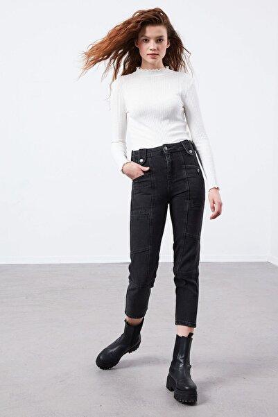 LC Waikiki Kadın Antrasit Qff Jeans 0WDF01Z8