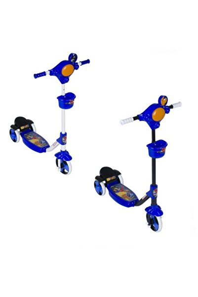 Anka Mavi Üç Tekerli Kolay Kullanım Scooter