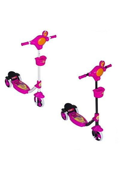 Anka Pembe Çocuk Üç Tekerli Kolay Kullanım Scooter