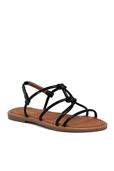 Tergan Kadın Siyah Vegan Sandalet 10162d62