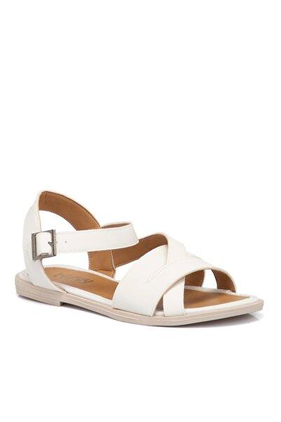 Tergan Kadın  Beyaz Vegan Sandalet 210140q0y