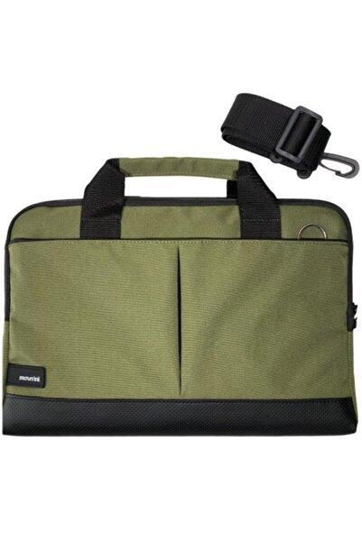 Moserini 15.6'' Taban Korumalı, Omuz Askılı Notebook Laptop Macbook Çantası - Haki