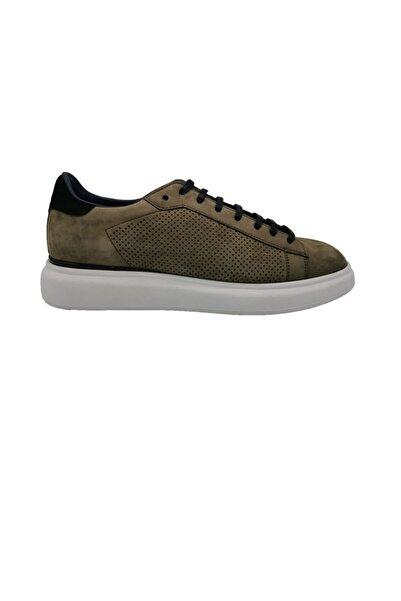 ALBERTO GUARDIANI Erkek Yeşil Deri Sneaker Ayakkabı