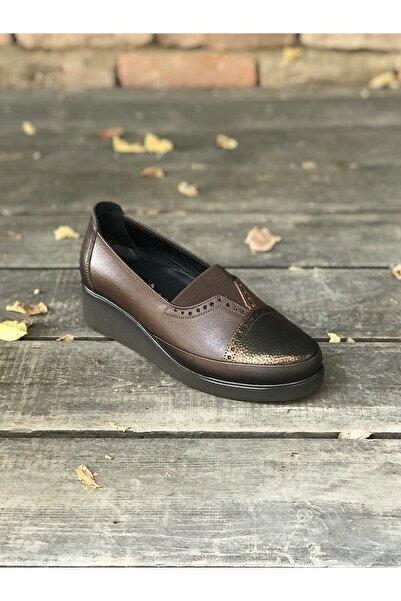 İmaj Kadın Kahverengi Günlük Deri Ayakkabı
