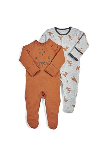 Mamas Papas Unisex Bebek 2li Leopard Sleepsuıts