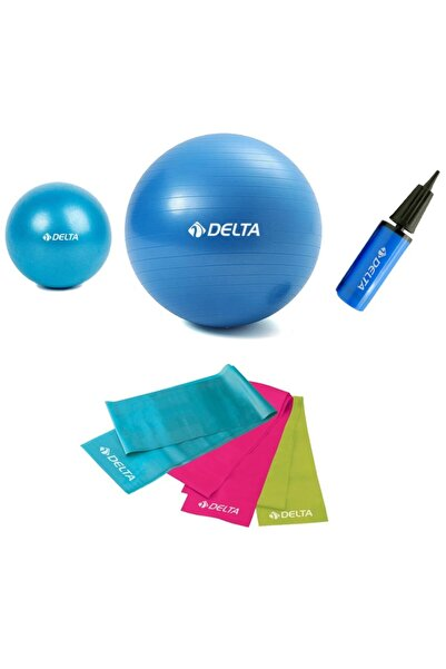 Delta 4'lü Pilates Seti Yoga Seti Egzersiz Bantlı Pilates Seti V2