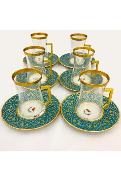 Paşabahçe Altın Yaldızlı  12 Parça Çay Seti