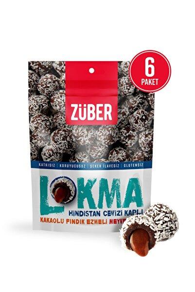 Züber Hindistan Cevizi Kaplı Kakaolu Fındık Ezmeli Meyve Topu 96g X 6 Paket