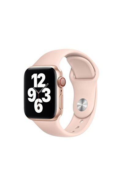 Bilişim Aksesuar Apple Watch 38 - 40 Mm Spor Kordon Silikon Kayış Kum Pembesi