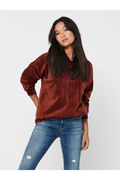 Jack & Jones Kadın Kırmızı Kapşonlu Sweatshirt