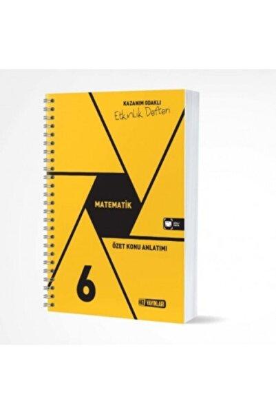 Hız Yayınları 6. Sınıf 2020-2021 Basım Matematik Etkinlik Defteri