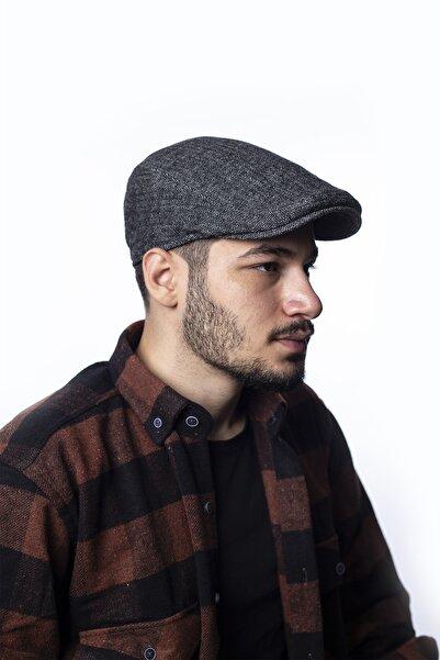 ÜN ŞAPKA Erkek Lacivert Lastikli Kaşe Kasket Şapka