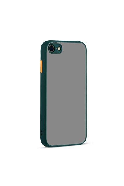 Fibaks Apple Iphone Se Kılıf Kamera Korumalı Mat Renkli Buzlu Hux Silikon + Ekran Koruyucu