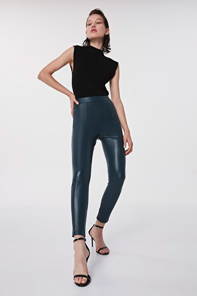 Twist Kadın Mavi Fermuar Kapama Pantolon