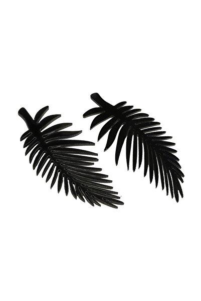 Twist Kadın Siyah Yaprak Figür Küpe