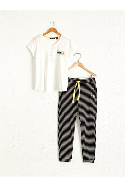 LC Waikiki Kadın Siyah Pijama Takım