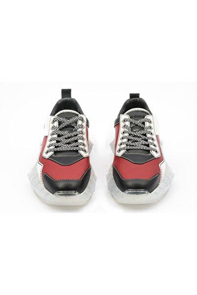 Jimmy Choo Erkek Kırmızı Hakiki Deri Sneakers