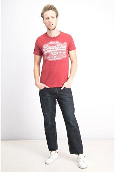 SUPERDRY Tshirt Men's Textured Logo Kırmızı