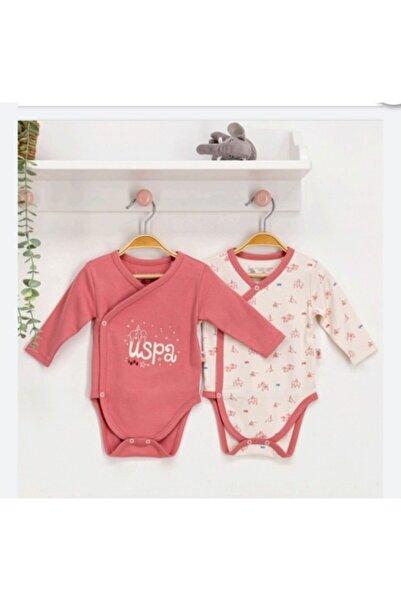 U.S. Polo Assn. Kids U.s.polo.assn Kız Bebek Uzun Kol Kruvaze 2'li Body