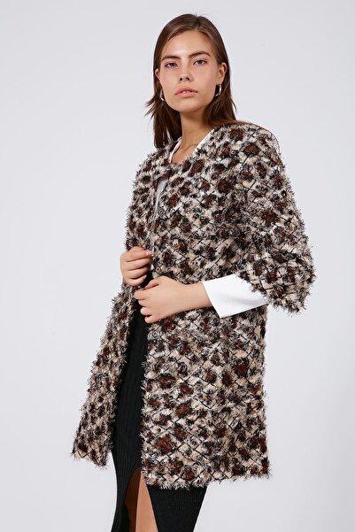 Y-London Kadın Leopar Sakallı Pullu Ceket Y19W127-11605-3