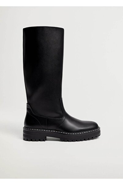 MANGO Woman Kadın  Siyah Çizme --