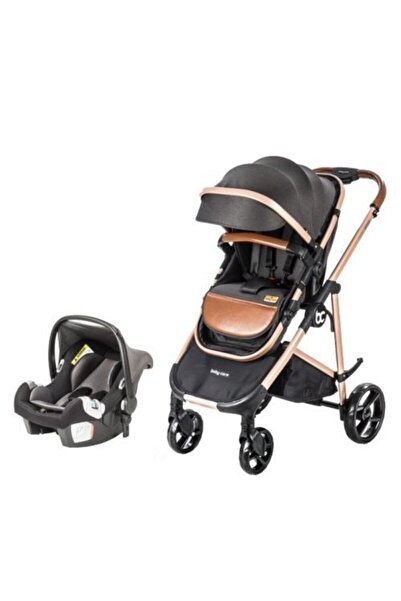 Baby Care Bc-35 Travel Sistem Bebek Arabası Gold Siyah
