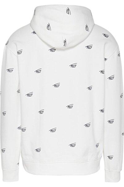 Tommy Hilfiger Erkek Beyaz Tjm Crıtter Hoodıe Sweatshirt