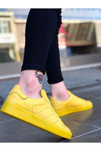 Boaondana Ba0035 Erkek Sarı Içi Dışı Hakiki Deri Taban Sneakers Ayakkabı