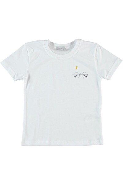 Monna Rosa Erkek Çocuk Beyaz Harry Potter Baskılı T-shirt