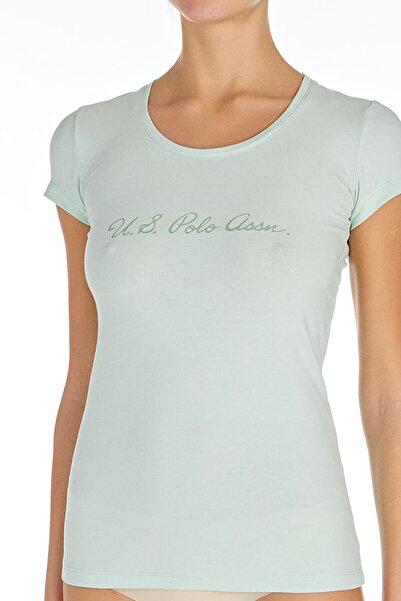 U.S. Polo Assn. Kadın Mint O Yaka T-shirt Us.01.66066