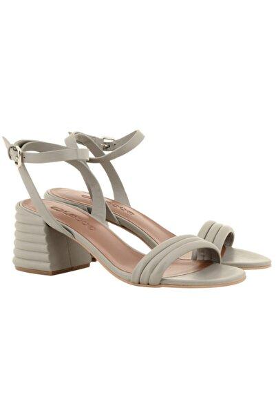 Nursace Kadın Bej Topuklu Ayakkabı A51079