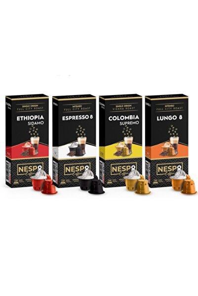 Nespo Kahve Nespresso Uyumlu Kapsül Kahve 4'lü 40 Kapsül