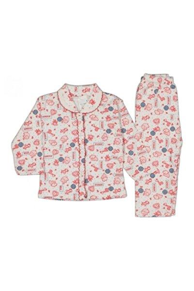 Güler Erkek Kız Bebek Önden Düğmeli Pijama Takımı